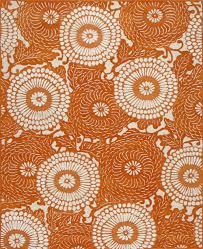 Orange Modern Rug Rugsville Bloom Orange Modern Rug 11841 Rugsville Co Uk