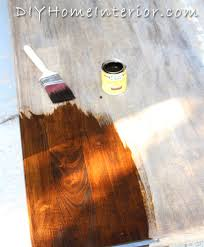 staining a table top refinishing a dining room table with paint and wood stain diy home