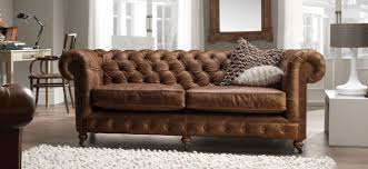 The Chesterfield Sofa Company Vintage Brown Leather Sofa Bed Catosfera Net