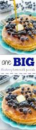 Blueberry Pancake Recipe One Big Blueberry Buttermilk Pancake