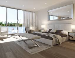 Bedroom White Furniture Modern Storage Bed White