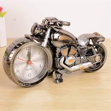 amazon com moolecole cool motorcycle shape alarm clock creative