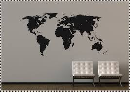 World Map Stencil World Map Wall Decal With Pins Home Decorations Ideas