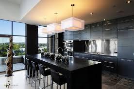 Black Kitchen Island With Stools Kitchen 12 Awesome Black And White Kitchen Design Ideas Photos