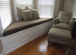 decorations bay window seat furniture ideas with beige single