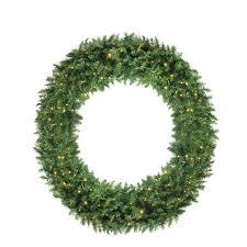 pre lit wreath 5 pre lit buffalo fir commercial artificial christmas wreath warm