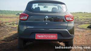 renault green renault kwid green rear view indian autos blog