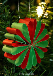 paper christmas decorations beautiful paper christmas decorations the links site