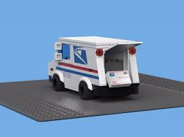 lego truck instructions set of custom lego stickers u0026 instructions to build a mail truck
