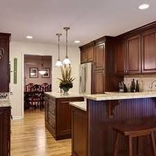 kitchen paint colors with cherry cabinets and stainless steel appliances pin by jennr on kitchens stained kitchen cabinets
