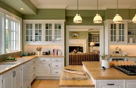 painted kitchen island new york green painted walls kitchen traditional with glass front