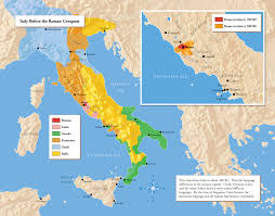 Campania Italy Map by Unification Of Italy