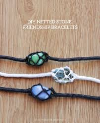 bracelet craft diy images Diy netted stone friendship bracelets curly made jpg