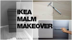 Malm Dresser Painted by Marble Mania Ikea Malm Makeover Youtube