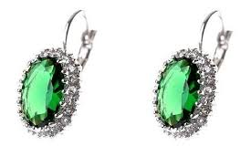 emerald earrings uk emerald green drop earrings costume jewellery