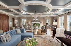 creative ceiling design with pendant lamp under circle marble