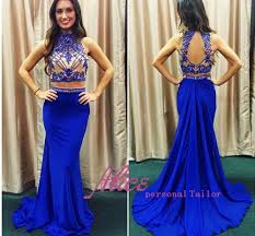 royal blue two piece prom dress gown and dress gallery