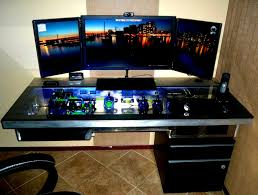 Building A Gaming Desk by Decoration Magnificent Custom Computer Rigs And Badass Gaming