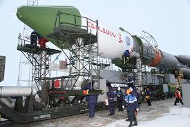 photos final soyuz u rocket rolls out to baikonur launch pad