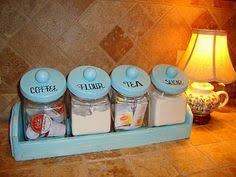turquoise kitchen tin canister set 1950s kitchen storage tins in