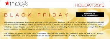 macy s announces 2015 thanksgiving and black friday weekend plans
