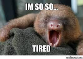 I M So Tired Meme - im so so tired ermahgerd sloth quickmeme