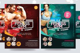 fitness flyer template fitness flyer flyer v7 flyer templates creative market