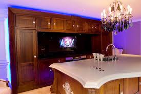 ex display clive christian alpha walnut kitchen island tv