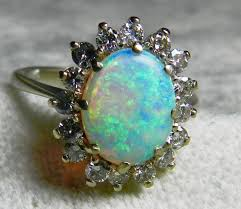vintage opal engagement rings opal ring vintage opal engagement ring 1 65 carat australian opal