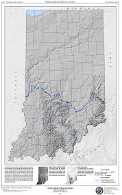 Maps Of Indiana Indiana Geological U0026 Water Survey Shaded Relief Map Of Indiana