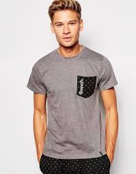 Bench Mens T Shirts Bench T Shirt With Polka Dot Print In Gray For Men Lyst