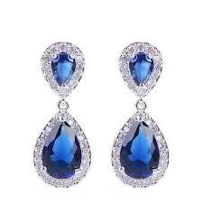 navy jewelry navy blue sapphire wedding bridal jewelry glam duchess