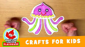 jellyfish craft for kids maple leaf learning playhouse youtube