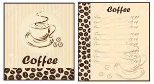 coffee shop menu template set of two templates coffee shop menu royalty free cliparts