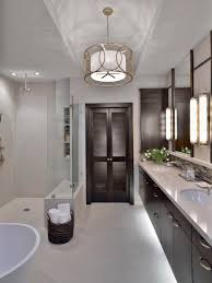 striking modern design bathroom centers acres of marble flooring