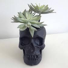 manchette cache pot tête de mort cache pot jardinière en tête de mort crâne