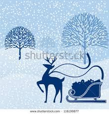 pulling sleigh tree on stock vector 6428395