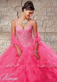 Pink Panther Halloween Costume Embroidered Beaded Bodice Ruffled Tulle Skirt Quinceanera