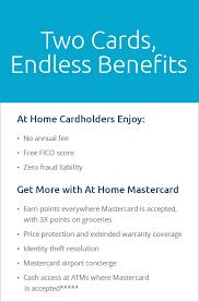 credit card at home