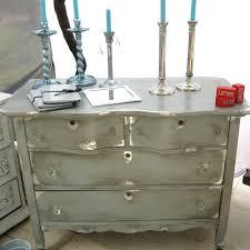 Silver Leaf Nightstand Charcoal Grey And Silver Leaf Vintage Dresser Sette Design Shop
