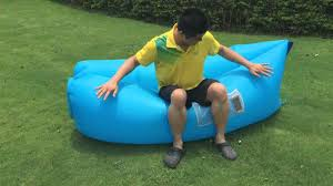 2nd generation air sofa lounger inflating leisureup youtube