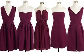 burgundy dress for wedding fall winter weddings cranberry burgundy bridesmaid