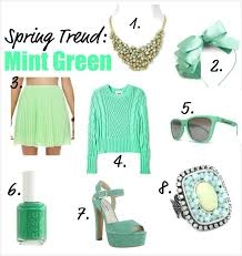trend report go minty green for spring