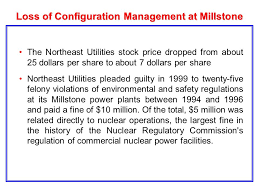 Carolina Power And Light Loss Of Configuration Management At Millstone Millstone Refueling