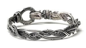 silver weave bracelet images Braided wire bracelet facet jewelry making jpg