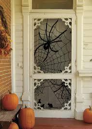 decorating front door for halloween 5 halloween spider web door