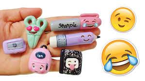 diy emoji back to supplies polymer clay tutorial youtube