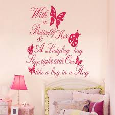 online get cheap butterfly kisses wall decal aliexpress com butterfly kiss ladybug hug quote wall sticker art vinyl decal china