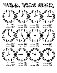 file clock hour chart coloring pages kids boys