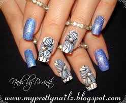 black and clear nail designs